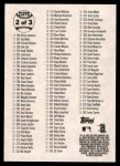 2003 Topps Heritage #0   Checklist 2 of 3 Back Thumbnail