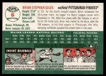 2003 Topps Heritage #6 NEW Brian Giles   Back Thumbnail