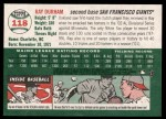 2003 Topps Heritage #118  Ray Durham  Back Thumbnail