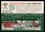 2003 Topps Heritage #75  Lloyd McClendon  Back Thumbnail