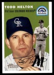 2003 Topps Heritage #20 GRN Todd Helton   Front Thumbnail