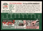2003 Topps Heritage #135  Lyle Overbay  Back Thumbnail