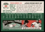 2003 Topps Heritage #89  Carlos Lee  Back Thumbnail