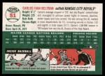 2003 Topps Heritage #51  Carlos Beltran  Back Thumbnail