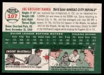 2003 Topps Heritage #107  Joe Randa  Back Thumbnail