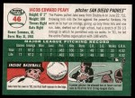 2003 Topps Heritage #46  Jake Peavy  Back Thumbnail