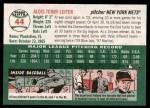 2003 Topps Heritage #44  Al Leiter  Back Thumbnail