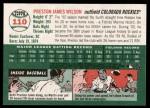 2003 Topps Heritage #110  Preston Wilson  Back Thumbnail