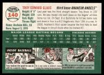 2003 Topps Heritage #140  Troy Glaus  Back Thumbnail