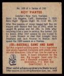 1949 Bowman #149  Roy Partee  Back Thumbnail