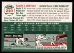 2003 Topps Heritage #210  Ramon Nivar-Martinez  Back Thumbnail