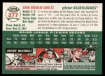 2003 Topps Heritage #277  John Smoltz  Back Thumbnail