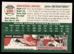 2003 Topps Heritage #286  Brian Lawrence  Back Thumbnail