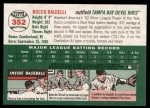 2003 Topps Heritage #352  Rocco Baldelli  Back Thumbnail