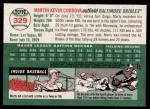 2003 Topps Heritage #329  Marty Cordova  Back Thumbnail