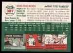 2003 Topps Heritage #307  Kevin Mench  Back Thumbnail