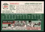 2003 Topps Heritage #204  Vernon Wells  Back Thumbnail