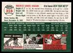 2003 Topps Heritage #316  Mo Vaughn  Back Thumbnail
