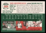 2003 Topps Heritage #342  David Justice  Back Thumbnail