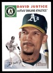 2003 Topps Heritage #342  David Justice  Front Thumbnail