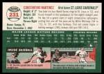 2003 Topps Heritage #231  Tino Martinez  Back Thumbnail