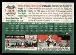2003 Topps Heritage #311  Phil Nevin  Back Thumbnail