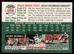 2003 Topps Heritage #266  Odalis Perez  Back Thumbnail