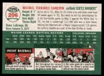 2003 Topps Heritage #206  Mike Cameron  Back Thumbnail