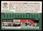 2003 Topps Heritage #353  J.D. Drew  Back Thumbnail