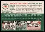 2003 Topps Heritage #341  Roberto Alomar  Back Thumbnail
