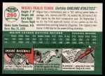 2003 Topps Heritage #260 ORG Miguel Tejada   Back Thumbnail