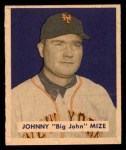 1949 Bowman #85 NAM Johnny Mize  Front Thumbnail