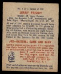 1949 Bowman #4 xNAM Jerry Priddy  Back Thumbnail