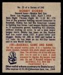 1949 Bowman #23  Bobby Doerr  Back Thumbnail