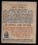 1949 Bowman #4 NAM Jerry Priddy  Back Thumbnail
