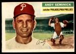 1956 Topps #296  Andy Seminick  Front Thumbnail