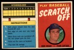 1971 Topps Scratch Offs #8  Mike Hegan   Front Thumbnail