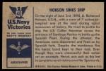 1954 Bowman U.S. Navy Victories #40   Hobson Sinks Ship Back Thumbnail