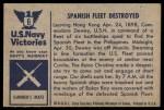 1954 Bowman U.S. Navy Victories #6   Spanish Fleet Destroyed Back Thumbnail