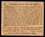 1941 Gum Inc. War Gum #53   Tank-Riding Igorots Wipe Out Japanese Back Thumbnail