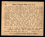 1941 Gum Inc. War Gum #35   Major Trapnell Wins a D.S.C. Back Thumbnail