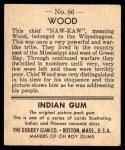 1947 Goudey Indian Gum #86   Wood Back Thumbnail