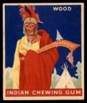1947 Goudey Indian Gum #86   Wood Front Thumbnail