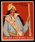 1947 Goudey Indian Gum #82   The Great King Front Thumbnail