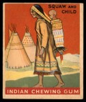 1947 Goudey Indian Gum #21   Squaw And Child Front Thumbnail