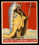 1947 Goudey Indian Gum #22   Sioux Tribe Front Thumbnail