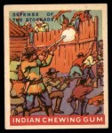 1947 Goudey Indian Gum #26   Defense Of The Stockade Front Thumbnail