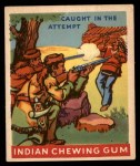 1947 Goudey Indian Gum #31   Caught In The Attempt Front Thumbnail