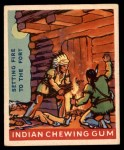 1947 Goudey Indian Gum #33   Setting Fire To The Fort Front Thumbnail