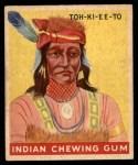 1947 Goudey Indian Gum #62   Toh-Ki-Ee-To Front Thumbnail
